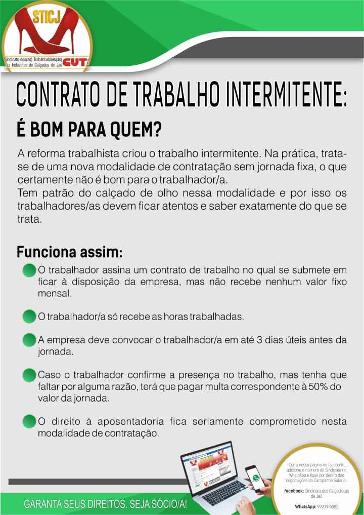 contrato de trabalho intermitente(1)