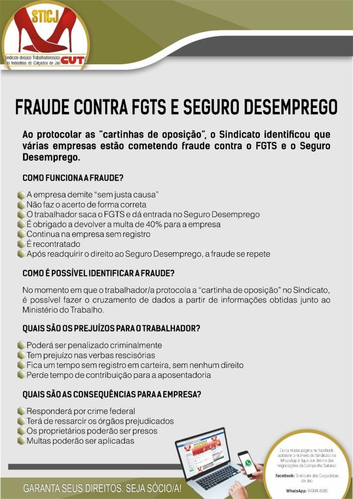 FRAUDE CONTRA FGTS E SEGURO DESEMPREGO